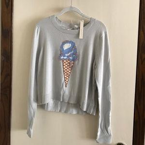 LC Lauen Conrad Ice Cream Sweater NWT Size L